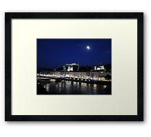 Salzburg Nightscape Framed Print