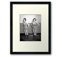 Chorus Girls, 1920 Framed Print