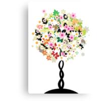 Floral tree Canvas Print