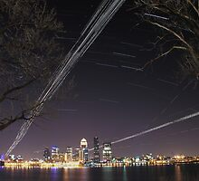 Louisville Kentucky Skyline by LizzieMorrison