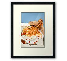 spaghetti good Framed Print