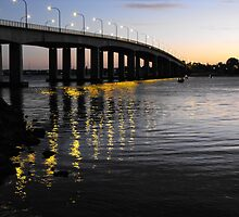 Captain Cook Bridge, Botany Bay, Sydney NSW Australia by Richard  Willett