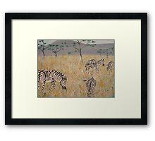 Zebras on the African Plains Framed Print