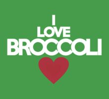 I love broccoli - red heart version Kids Clothes
