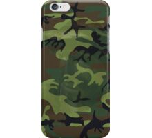 Woodland Green Camouflage with Hidden Face iPhone Case/Skin