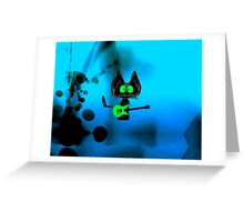 Tattered Mouse, a Rock Star Cat Greeting Card
