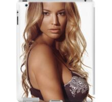 Portrait of a beautiful woman with blond hair wearing lingerie art photo print iPad Case/Skin