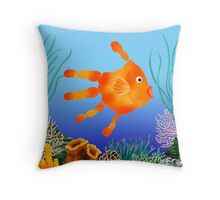 Coral Reef Critter Throw Pillow