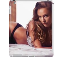 Glamour portrait of sexy young woman lying on bed art photo print iPad Case/Skin