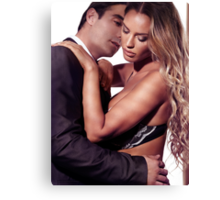 Sexy couple portrait art photo print Canvas Print