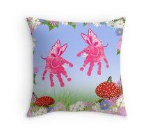 Fairy Elephant Critters Throw Pillow