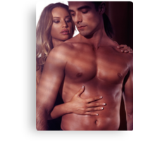 Sexy artistic portrait of a couple art photo print Canvas Print