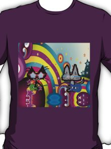 Hippie Cats Play Rock and Roll  T-Shirt