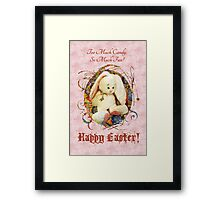 Too Much Candy ~ Poor Baby! Framed Print