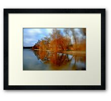 Reflected trees Framed Print