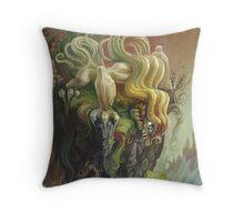 Curly Dragon Throw Pillow