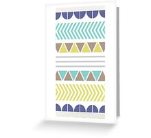 Blue Turquoise and Lime Pattern Greeting Card