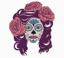 Colorful Sugar Skull Woman Kids Clothes