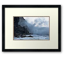 """ The Awsome power of each wave"" Framed Print"
