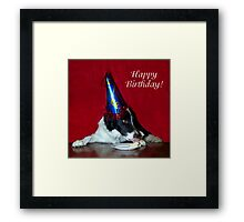 Happy 1st Birthday Champ! Framed Print