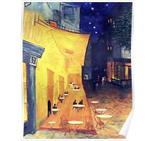 """My Version /  Homage  to Vincent   """"  The Cafe' Terrace  at Night  """"     My Paintings                        Poster"""