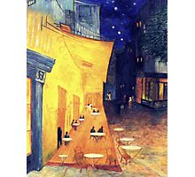 """My Version /  Homage  to Vincent   """"  The Cafe' Terrace  at Night  """"     My Paintings                        Photographic Print"""