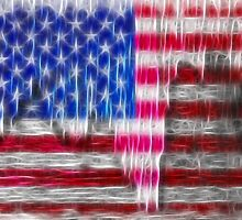 Old Glory Art by Beverly Lussier