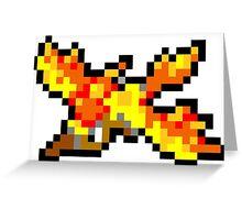 Pokemon 8-Bit Pixel Moltres 146 Greeting Card
