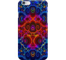 Psychedelic Swirling Fractal Design by CAP iPhone Case/Skin