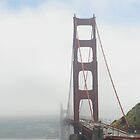 Goldengate Bridge in the fog by Marjorie Wallace