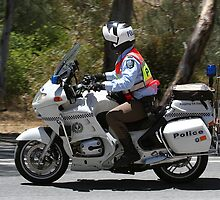Police Escort - Tour Down Under by Jenny Brice