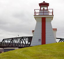 Balache Point range marker Nova Scotia Canada by Roxane Bay
