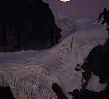 Moon over Shuksan by Jefferson L. Morriss
