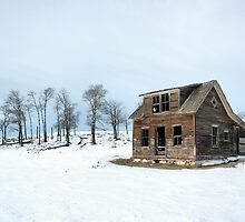 Winter Farmhouse by Brian R. Ewing