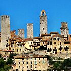 San Gimignano by hans p olsen
