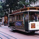 Cable cars at Market and Powell by Marjorie Wallace