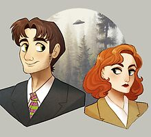 Mulder And Scully by Sutexii
