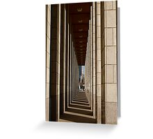 Walking Through Shadows and Light Greeting Card