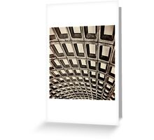 Subway Ceiling Greeting Card