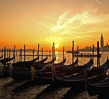 Golden gondolas. by naranzaria