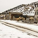 Deserted Street in Bannack State Park by Sue Smith