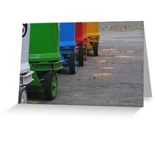 Rainbow on wheels Greeting Card