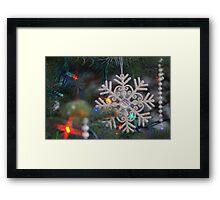 Stary Snow Flake. Framed Print
