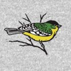 Lesser Goldfinch T-shirt by SigneNordin