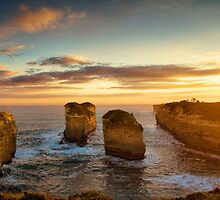Sunset over Loch Ard Gorge with Topaz Effect by ©Josephine Caruana