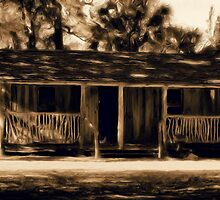 Rustic Cabin by Donna Adamski