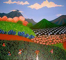 Nicaraguan Primitive art by mariaGonzalez