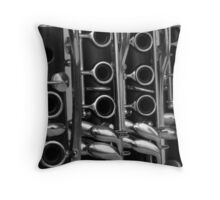 Clarinets on Line Throw Pillow