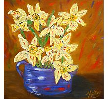 yellow daffodils, southwest art, home decor, original art Photographic Print