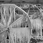 Frozen Wheels B&W by Dan Sweeney